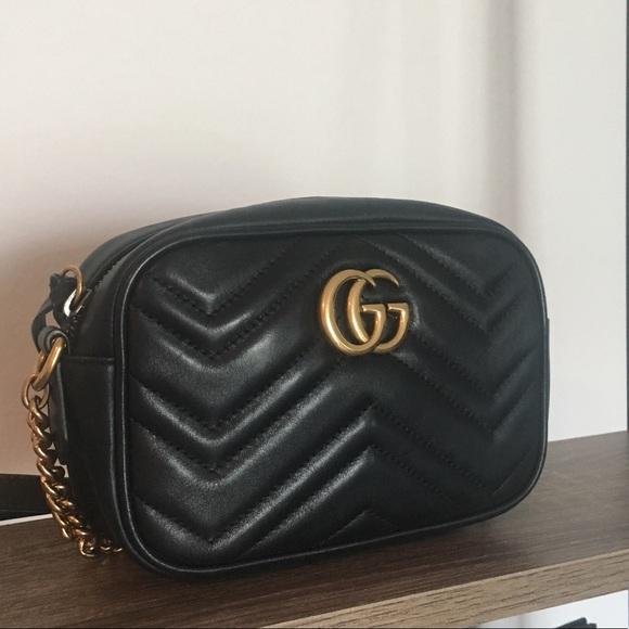 036721aaed2 Gucci Handbags - Gucci - GG Marmont Matelasse Mini Crossbody Bag